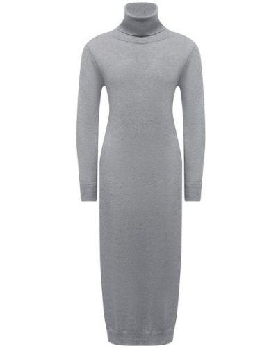 Серое кашемировое платье Pietro Brunelli