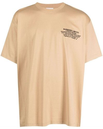 Beżowa t-shirt bawełniana Burberry