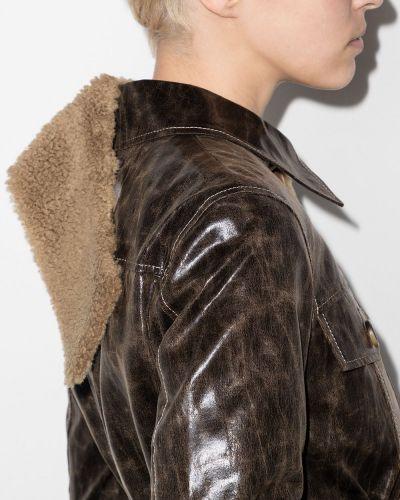 Коричневое пальто длинное Rejina Pyo