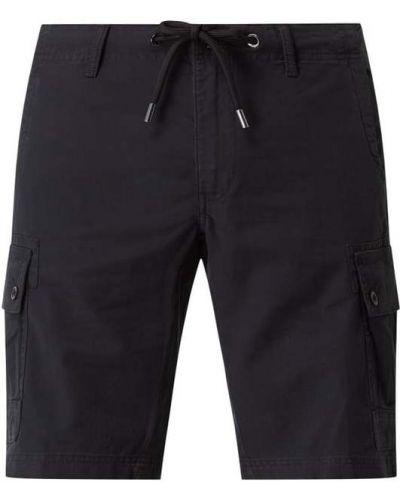 Czarne szorty cargo bawełniane S.oliver Black Label
