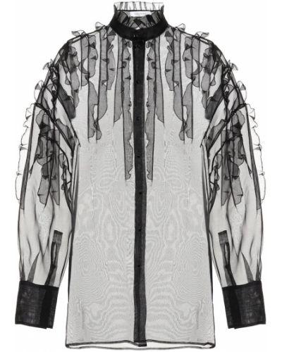 Блузка из органзы батник Valentino