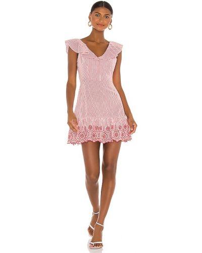 Хлопковое вечернее платье - красное Bcbgeneration
