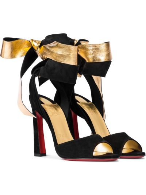 Czarne sandały skorzane Christian Louboutin