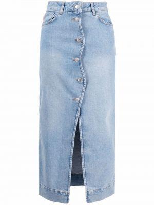 Джинсовая юбка макси - синяя Ganni