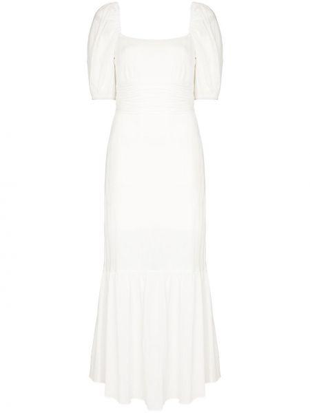 Хлопковое платье миди - белое Peony