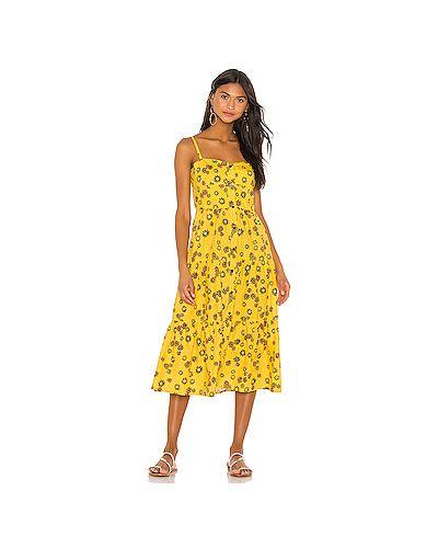 Платье в полоску на пуговицах Solid & Striped