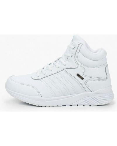 Кожаные белые высокие кроссовки X-plode