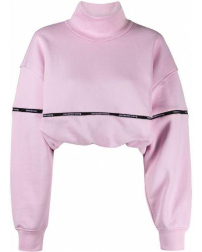 Приталенный розовый хлопковый джемпер Alexanderwang.t