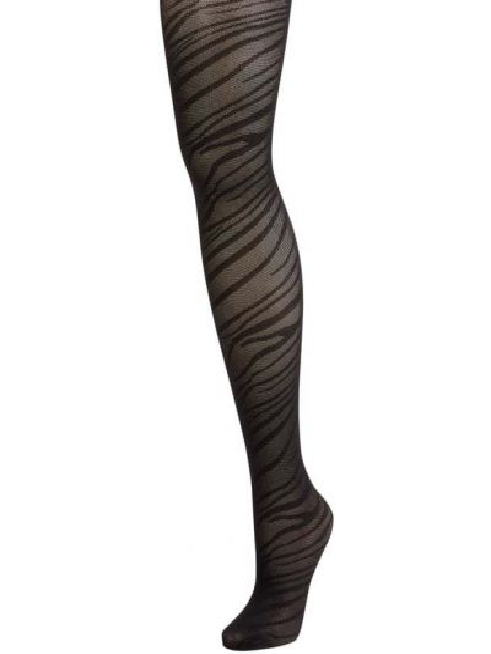 Czarne rajstopy z nylonu Ichi