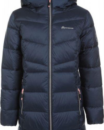 Нейлоновая синяя теплая куртка на молнии Outventure