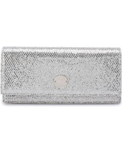 Клатч на цепочке серебряного цвета Jimmy Choo