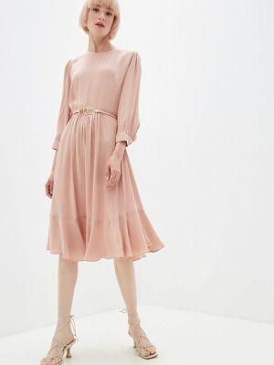 Розовое прямое платье Lusio