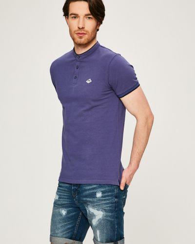 Синяя футболка однотонная Le Shark