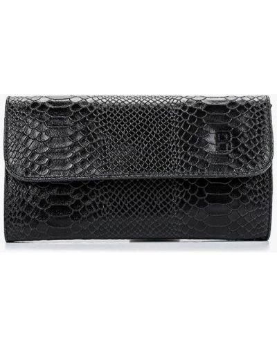 Черный клатч из натуральной кожи Roberto Buono
