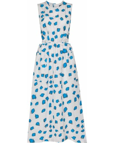 Sukienka midi bez rękawów - biała Issey Miyake