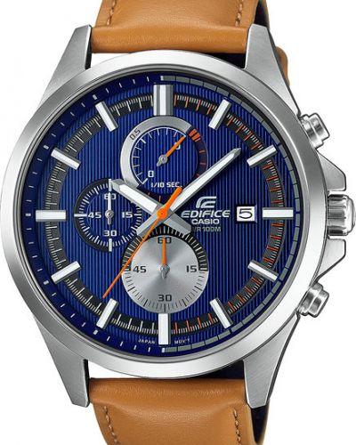 Часы водонепроницаемые с кожаным ремешком скромный Casio