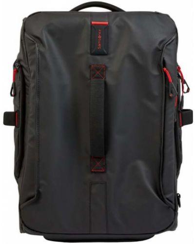 Z paskiem czarny walizka z zamkiem błyskawicznym Samsonite