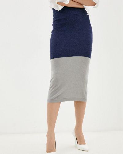 Прямая юбка - синяя Rodier