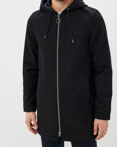 Черное пальто осеннее Shine Original