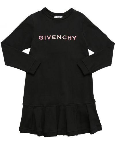 Хлопковое платье макси с длинными рукавами с вышивкой Givenchy