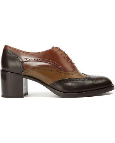Кожаные туфли закрытые круглые Fratelli Rossetti