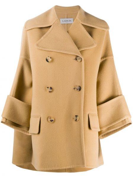 Кашемировое пальто двубортное на пуговицах Lanvin