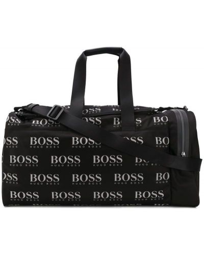 Дорожная сумка с принтом - черная Boss Hugo Boss
