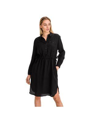 Czarna sukienka materiałowa Lee