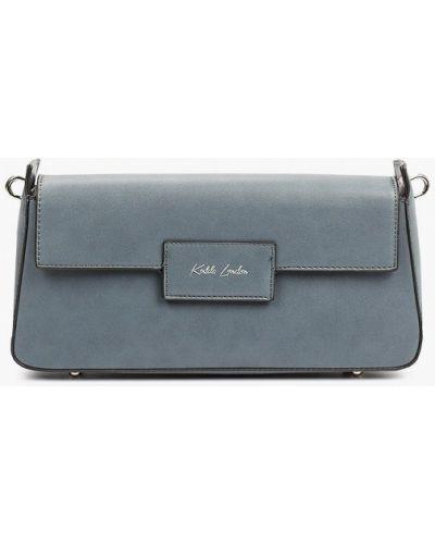 Кожаная сумка через плечо - синяя Keddo