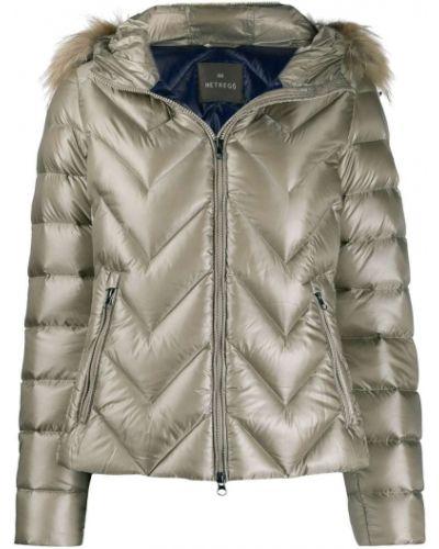 Длинная куртка мятная Hetrego