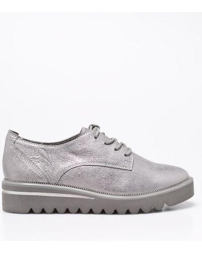 Кожаные туфли на шнуровке на каблуке Tamaris