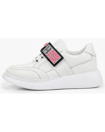 Кожаные белые кроссовки Laremo