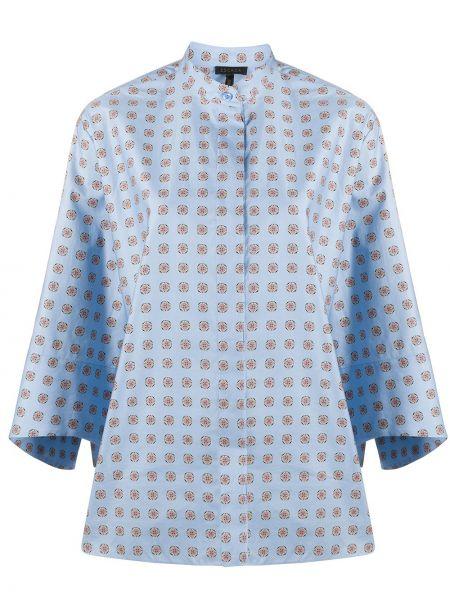 Niebieska bluzka bawełniana z printem Escada