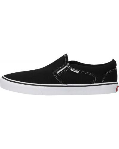 Текстильные черные слипоны на шнуровке Vans