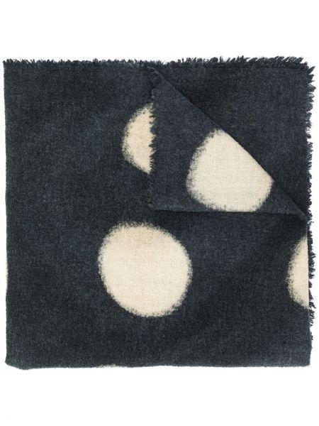 Niebieski z kaszmiru szalik w grochy Faliero Sarti