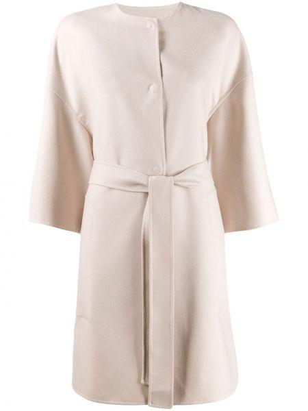 Кашемировое пальто с капюшоном с воротником Agnona