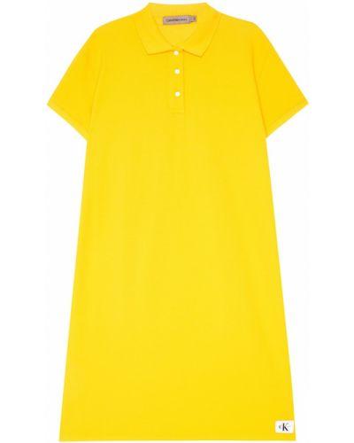 Платье миди на пуговицах спортивное Calvin Klein