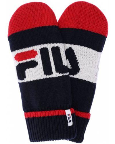 Prążkowane rękawiczki z akrylu Fila Urban