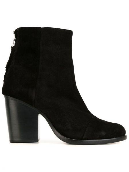 Czarny buty na pięcie z prawdziwej skóry na pięcie Rag & Bone