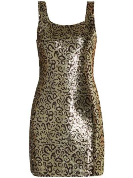 Sukienka z cekinami - brązowa Sisters Point