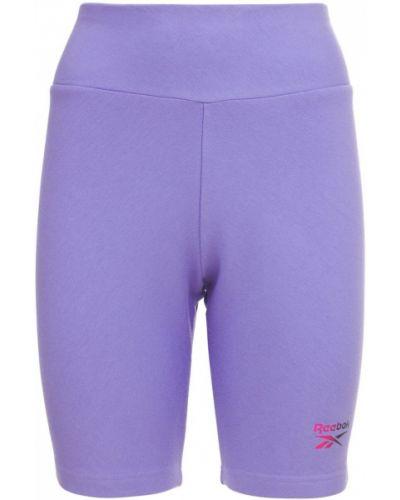 Фиолетовые шорты на резинке Reebok Classics