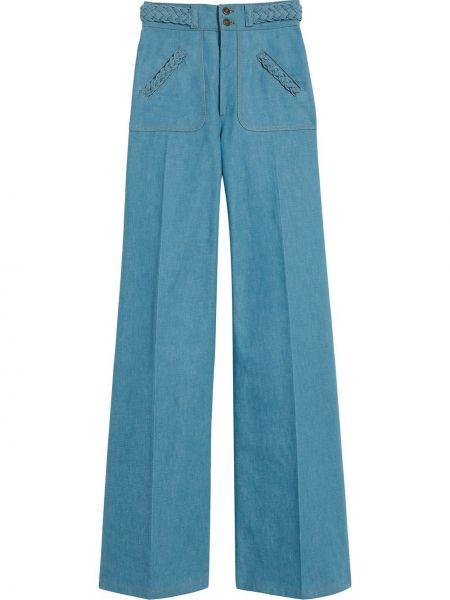 Расклешенные джинсы с высокой посадкой на молнии Marc Jacobs