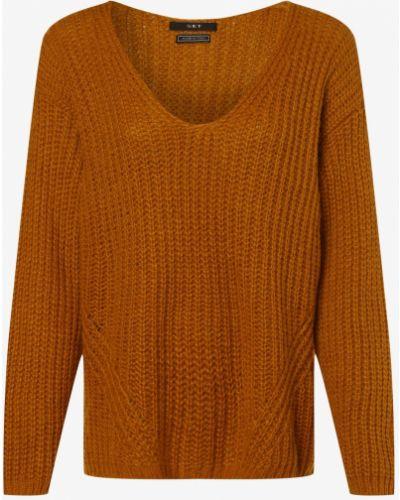 Sweter z dekoltem w serek - żółty Set