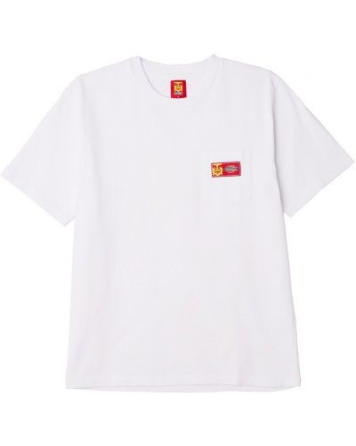 Хлопковая белая футболка с карманами Obey