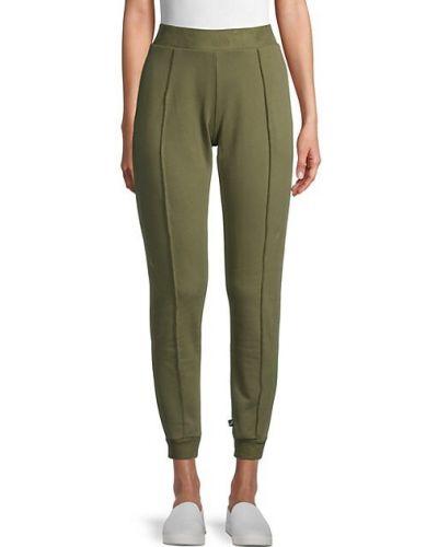 Хлопковые зеленые брюки с манжетами Terez