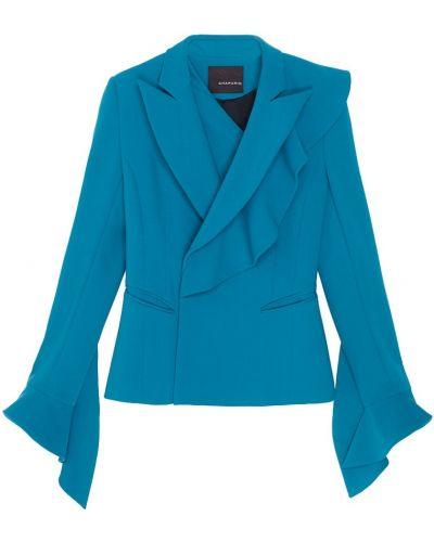 Зеленый шерстяной пиджак с подкладкой Chapurin