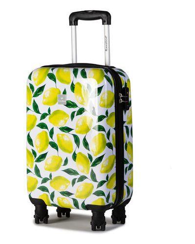 Biała walizka Saxoline