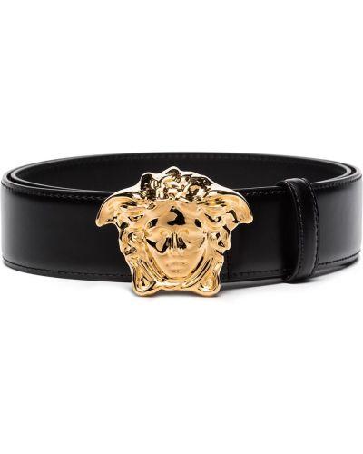 Кожаный ремень - черный Versace