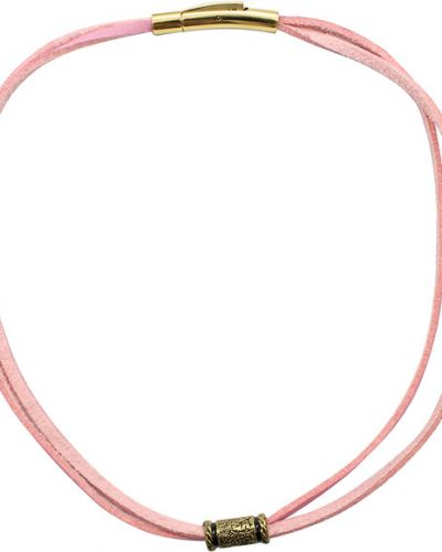 Кожаный браслет позолоченный металлический Swanky