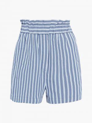 Синие шорты с накладными карманами Tibi